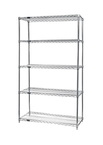 Quantum Storage Systems Home Decorative Wire 5-shelf Starter Unit 18