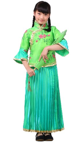 Bysun girls's costume Han Chinese clothing Turquoise150 (Han Chinese Clothing compare prices)