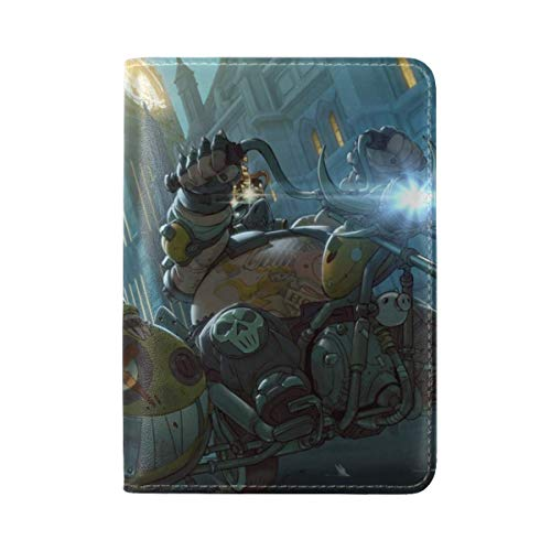 Overwatch Junkrat Mako Rutledge Jamison Fawkes Leather Passport Holder Cover Case Travel One Pocket -  Jimo, PASSPORTCOVERS-6911
