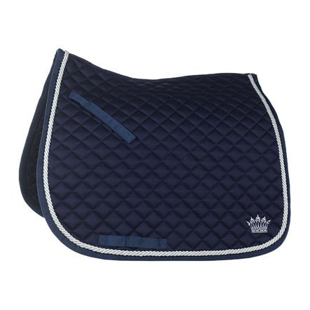 Horze Silver Cord Dressage Saddle Pad - Size:Full Color:Dark Dark Blue