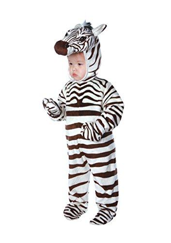 Underwraps Costumes Baby's Zebra Costume Jumpsuit, White, Medium
