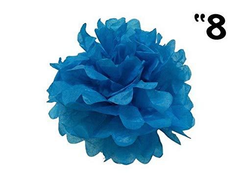 Mikash 12 pcs 8 POM POM Balls Wedding Party Centerpieces Decorations Wholesale | Model WDDNGDCRTN - 8133 | ()