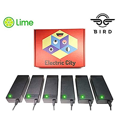 Lime Scooter Charger 6-Pack   Bird, Lime-S, Mijia M365, Segway Ninebot Es4, Es2, Es1 Compatible.: Industrial & Scientific