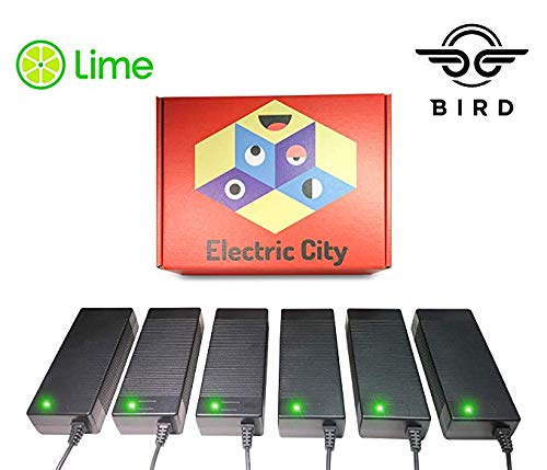 Lime Scooter Charger 6-Pack | Bird, Lime-S, Mijia M365, Segway Ninebot Es4, Es2, Es1 Compatible.