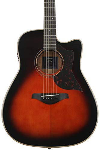 Yamaha 6 String Series A3M Cutaway Acoustic-Electric Guitar-Mahogany, Tobacco Sunburst, Dreadnought TBS