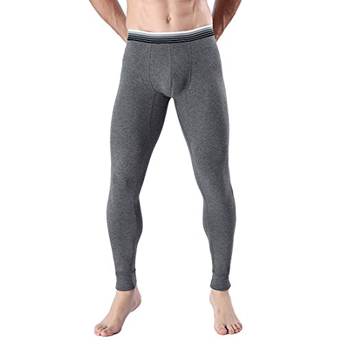Paixpays Men's Base Long Johns Thermal Underwear Pant Bottom by Paixpays