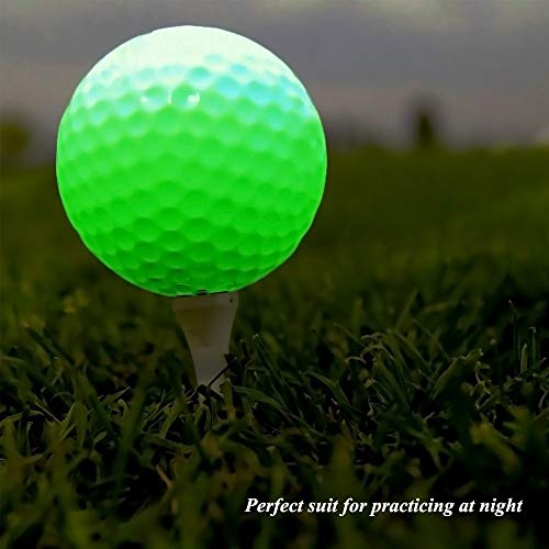 Glow Golf Balls, ZLIXING Led Golf Balls Novelty Golf Ball Funny Golf Ball Colored Golf Balls, Light up Golf Balls Professional Practice Golf Balls Glow in Dark for Night Sports (3 Pices) by ZLIXING (Image #4)