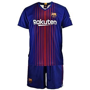 cf482119d0d6a Kit Junior Personalizable FC Barcelona Replica Oficial 2017-2018 Primera  Equipación (Talla 4 años)  Amazon.es  Deportes y aire libre