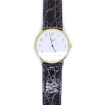 Uhr Longines La Grande CLassique de Longines l46662132 Quarz (Batterie) Stahl Quandrante weiß Armband Leder