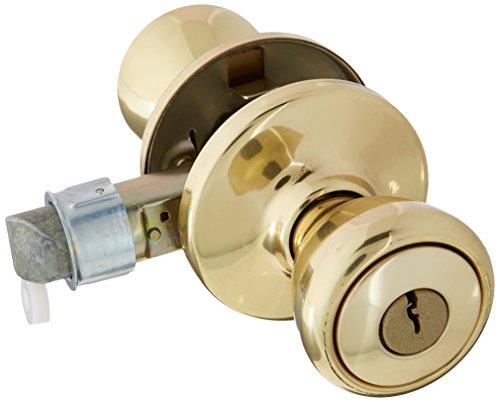 (KWIKSET 94002-825 Mobile Home Entry Lockset, Polished Brass)