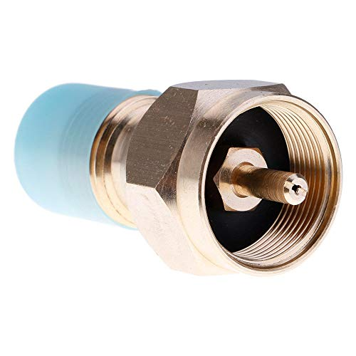 (TIANRUN Propane Refill Adapter Lp Gas 1 Lb Cylinder Tank Coupler Heater 100% Brass (Gold))