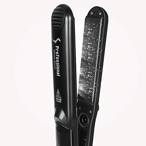 Steam Hair Straightener, Solofish Salon Grade Ceramic Flat Iron with Anti-Static Technology and Digital Controls Suitable for All Hair Types