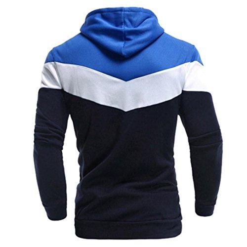 Tops ropa sudadera con capucha con chaqueta larga abrigo Marina manga capucha baratas hombre Amlaiworld Hombres Sudaderas q6PTaw6