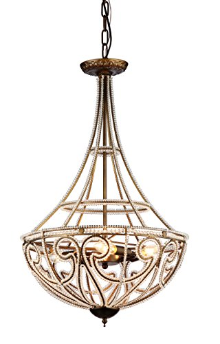 Whse of Tiffany RL7971A Hercules Scale Chandelier - 18 inches in diameter x 28 inches high Crystal Style: modern, rustic, contemporary - kitchen-dining-room-decor, kitchen-dining-room, chandeliers-lighting - 41%2BD3p 4FQL -