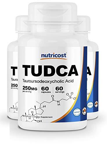 : Nutricost Tudca 250mg, 60 Capsules (3 Bottles)