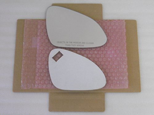 (New Replacement Mirror Glass with FULL SIZE ADHESIVE for BUICK REGAL Passenger Side View Right)