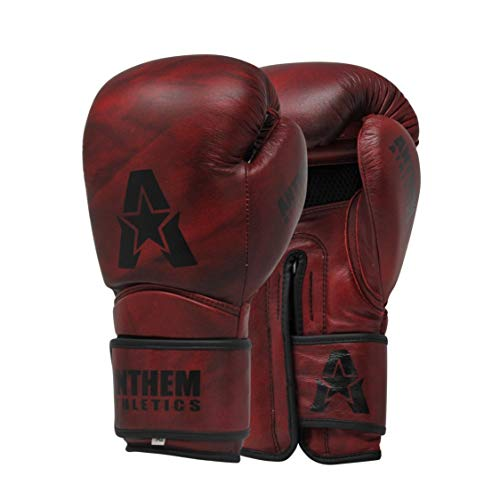 Anthem Athletics STORMBRINGER II Leather Boxing Gloves - Muay Thai, Kickboxing, Striking - Iron Oxblood - 12 oz.