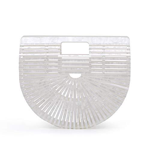 Beauty Womens Ark Small Acrylic Clutch Handbag Tote Bag Beach Bag