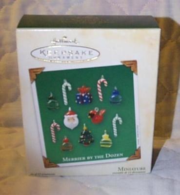 Merrier By the Dozen Hallmark Miniature Ornament