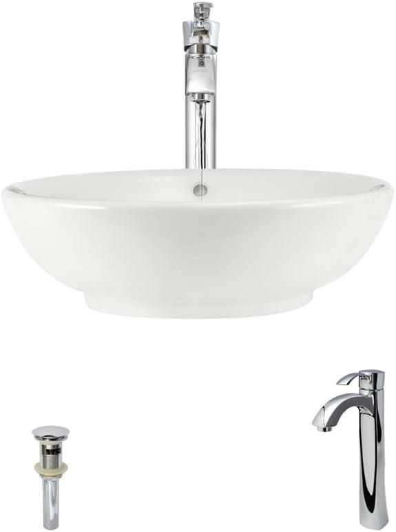 V90-B Bisque Porcelain Vessel Lavatory Sink