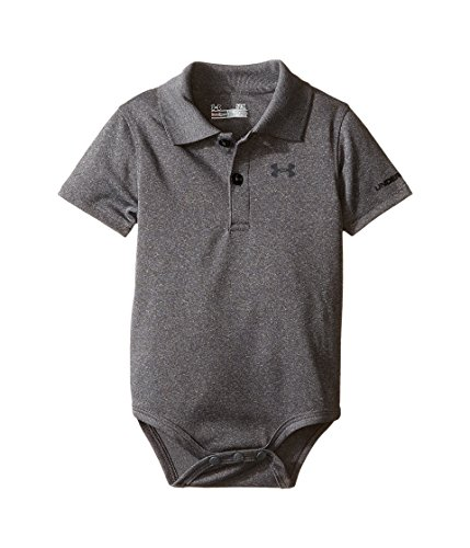 Under Armour Baby-Boys' Polo Bodysuit,Carbon Heather (27690007-04)/White,3-6 Months
