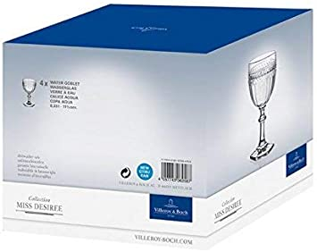 Miss Desiree Wine Goblet By Villeroy Boch 6 5 Inch Height Villeroy And Boch Tumblers Water Glasses Amazon Com