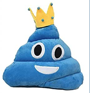 Amazon.com: 32cm large Pink/blue smiley face pillow emoji