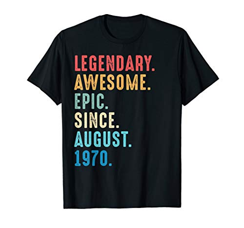 (49th Birthday Gift Classic Vintage August 1970 Classic Shirt)