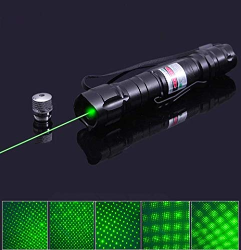 Torches L-a-s-e-r Pointer Professional Pen Beam with 5 Star Caps Green Pen