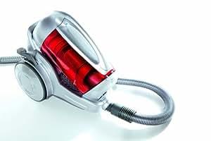 Dirt Devil M50290 - Aspirador sin bolsa, multiciclónico, 1600 W, color plata perla y rojo