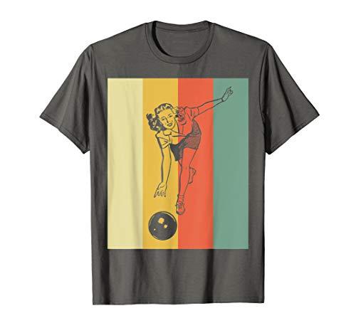 Vintage Bowling T-Shirt - Retro Bowling Girl TShirt