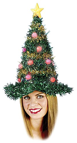 Christmas Tree Hat Light Up Costume Accessory -
