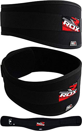 RDX Weight Lifting Belt for Gym Fitness Training – Neoprene Padded Curved Belt with 6 Lumbar Back Support – Great for Bodybuilding, Functional Training, Powerlifting, Deadlifts Workout Squats