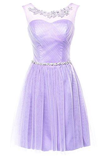 Buy beautiful short purple dresses - 9