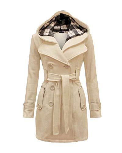 Prodotto Outwear Double Breasted Vintage Manica Mantello Autunno Invernali Plus Inclusa Con Cappuccio Lunga Slim Trench Cintura Classiche Donna Beige Giacca Fit pawqXBn