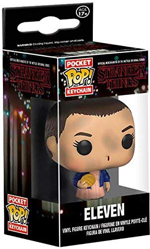 TopVives Stranger Things Keychain - Adorable Eleven with Eggo Figurine - A Great Gift for Fans!