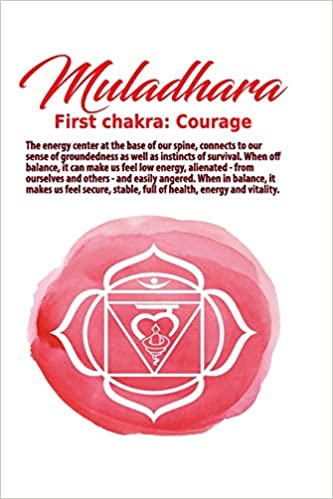 Muladara First Chakra Courage Undated Journal for Tantra Meditation