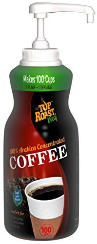 Top Roast Decaf Refine w/ Microground Liquid Coffee | 15.2 Ounce Pump Bottle - Makes 100 Cups