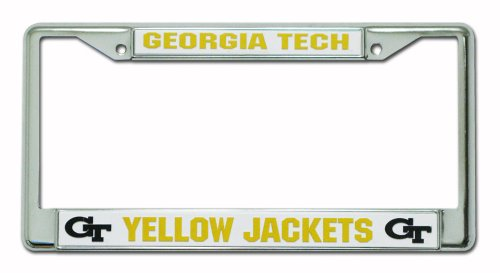 (Rico Industries Georgia Tech Yellow Jackets Chrome License Plate Frame)