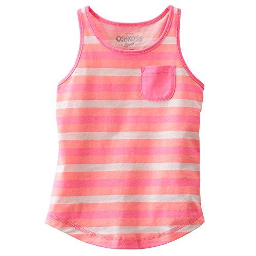 Oshkosh Girl's Striped Racerback Tank; Pink; 5 Kids (Osh Kosh Cami)