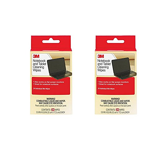 Amazon price history for 3M Notebook Screen Cleaning Wipes, 3.9 x 6.9 Inches1 -Set of 2
