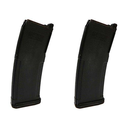 Airsoft Shooting Gear 2pcs PTS (KWA) EPM 40rd Enhanced Polymer GBBR Magazine Black by Airsoft Shopping Mall