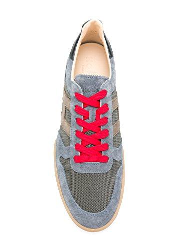 Hogan Heren Hxm3570ac40i9m931q Blauw Lederen Sneakers