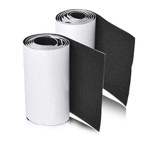 11CM (4.3 Inch) 1 Meter Hook and Loop Black Self Adhesive Tape Couch Cushions Tape Strips with...