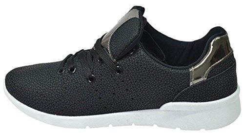 Schnürschuhe black Krush Schuhe Damen Jogging Walking Ls0696 Damen qq0POfxE