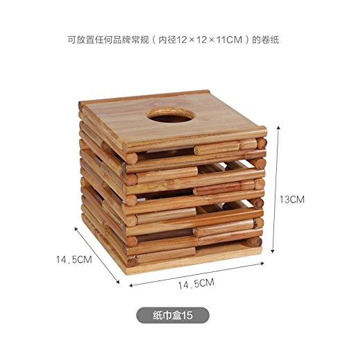 Wuyulunbi@ Large Volume Of Household Living Custom Carton Paper Boxes Home Furnishing Wood Drum Box,Tissue Box 15