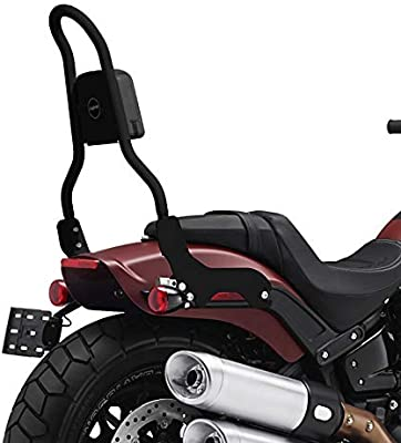 Portaequipaje CSM para Harley Softail Street Bob 18-19 Negro Respaldo