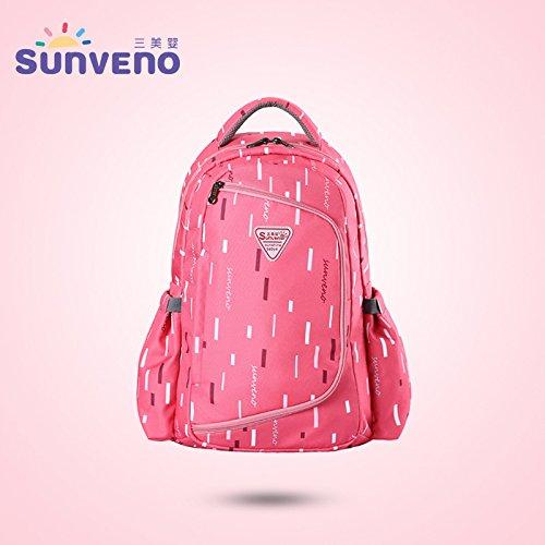 Multi-función De Gran Capacidad Doble Hombro Madre Bolsa Madre Y Bebé Bolso De Moda Madre Bolsa Fuera Mochila(Pink) Pink