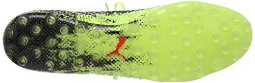 Puma Herren Future 18.1 Netfit MG Fußballschuhe Gelb (Fizzy Yellow-Red Blast-Puma Black)