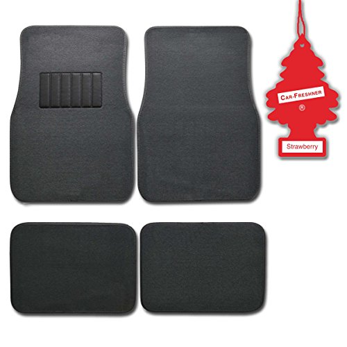 bdk-charcoal-4-pc-universal-carpet-car-mats-w-heel-pad-little-tree-strawberry
